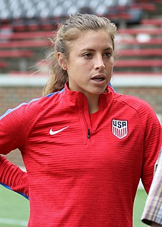 Sofia Huerta association football forward of the National Womens Soccer League and Mexican and United States national teams