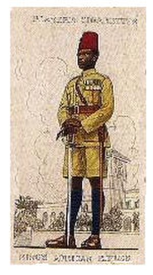 King's African Rifles - Warrant officer of the King's African Rifles on a 1938 Player's cigarette card