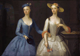 Lady Charlotte Finch - Lady Charlotte (right) and her sister Sophia, c. 1741