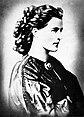 Sophie von Hatzfeldt, retuschierte Porträtfotografie, um 1860/61