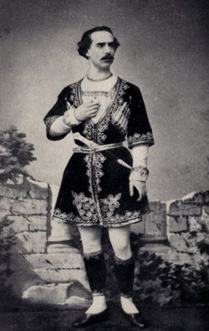 Louis Mérante - Louis Mérante as Djémil in the Saint-Léon/Delibes La Source, Paris, 1866