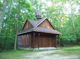 Soyuzivka - Soyuzuvka Chapel, demonstrating unique architecture