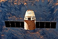 SpaceX CRS-11 Dragon spaceship after release from ISS.jpg