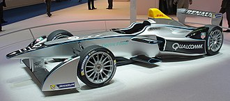 Formula E - Spark-Renault SRT_01 E unveiled at Frankfurt Motor Show 2013 – used in FIA Formula E from 2014–2018.