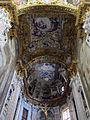 Ss. annunziata del vastato, int., volta del prebiterio con affreschi di giulio benso.JPG