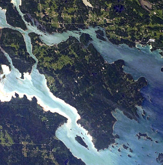 St. Joseph Island (Ontario) - This photo shows St. Joseph Island, Ontario located near the mouth of the St. Marys River in northwestern Lake Huron.