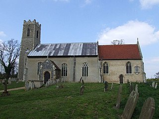 Hedenham farm village in the United Kingdom