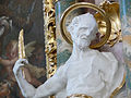 St Peter Seitenaltar links Figur Markus detail.jpg