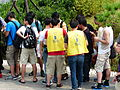 Staffs Checking Tickets of Visitors in Line 20140705.jpg