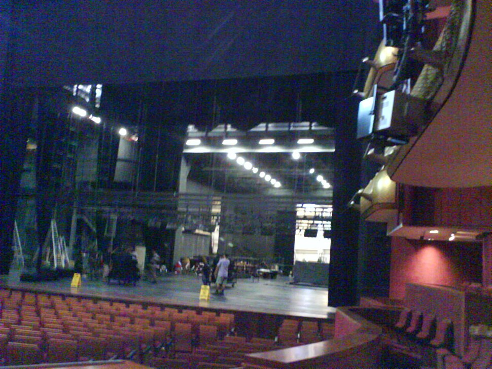 Stage of the Theatre, Esplanade – Theatres on the Bay, Singapore, during rehearsals - 20070119