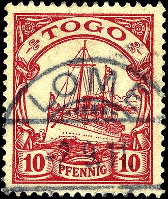 Key type stamp - A used German key type stamp for Togo.