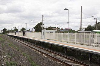 Broadmeadows railway station, Melbourne - Image: Standard gauge platform at Broadmeadows station, Melbourne