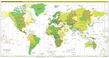 karta sveta vremenske zone Vremenska zona   Wikipedia karta sveta vremenske zone