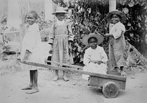 South Sea Islanders - Image: State Lib Qld 1 127579 South Sea Islander children at Innisfail, Queensland, ca. 1902 1905