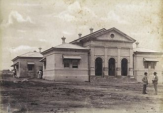 Charters Towers Courthouse - Charters Towers Court house c.1888.