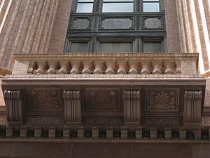 State Savings Bank Building - Image: State Savings Bank building detail