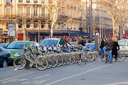Velib' at Place de la Bastille Station Velib DSC 3497.JPG