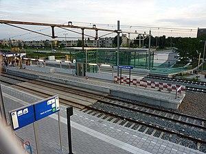 Alphen aan den Rijn railway station - Image: Station alphen aan den rijn bouw
