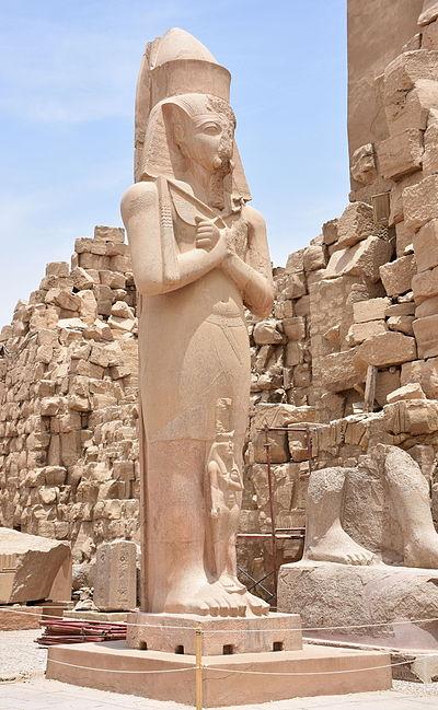Statue of Ramesses II in Karnak Temple in Luxor Egypt.JPG