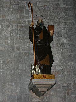 Statue of Saint Maginus (Sant Magí) - Santa Maria del Mar - Barcelona 2014.jpg