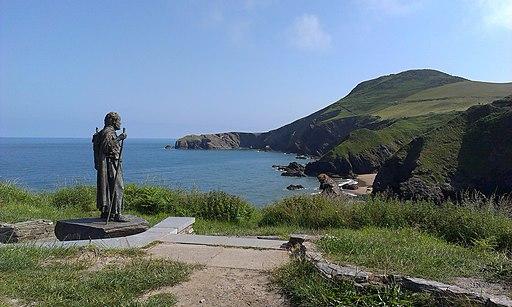Statue of St Carannog