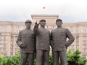 Beibei District - Statues in central Beibei.