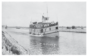 Murray Canal - The ''Varuna'' transits the Canal, in 1910.