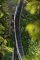 Steep hiking stairs at Kivitunturi in Savukoski, Lapland, Finland, 2021 June.jpg