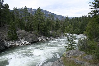 Stein River river in Canada