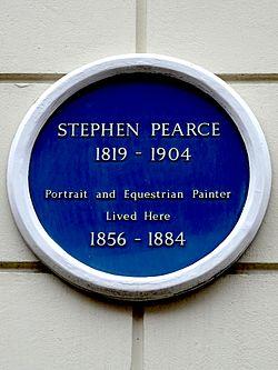 Photo of Stephen Pearce blue plaque