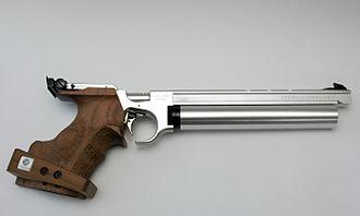 ISSF 10 meter air pistol - Steyr LP10 PCP air pistol