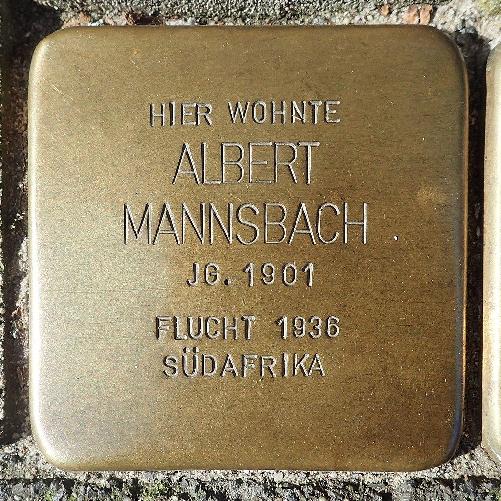 Stolperstein für Albert Mannsbach
