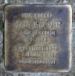 Zehlendorf (Berlin) - Image: Stolperstein Hochsitzweg 17 (Zehld) Rosa Wegner