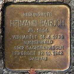 Photo of Heimann Baruch brass plaque