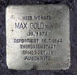 Stolperstein uhlandstr 155 (wilmd) max goldmann