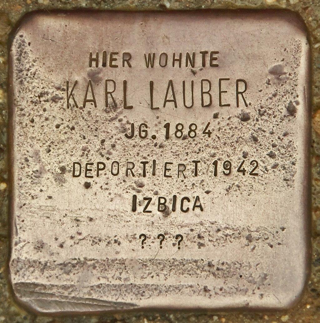 Stolperstein für Karl Lauber (Marktbreit).jpg