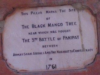 Panipat - Image: Stone bearing testimony, Panipat