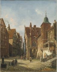 Street in Hamburg. Study in Architecture