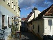 Street in old town in Bratislava.JPG