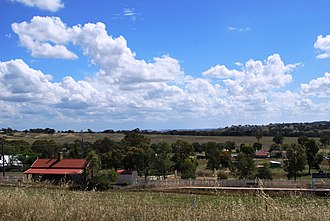 Stuart Town, New South Wales - Stuart Town, overlooking the railway station