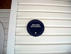 Photo of Walter Kitching blue plaque