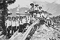 Students of the Taihoku First Girls' High School near the Nishiyama Shrine in Taiwan.jpg