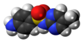 Sulfaperin molecule spacefill.png