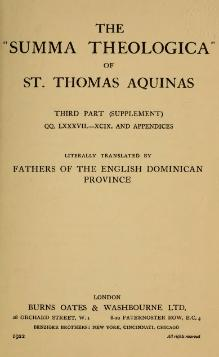 Summa Theologica (2nd rev. ed.) - Volume 21.djvu