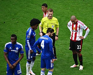 Wahbi Khazri - Khazri (right) playing for Sunderland against Chelsea in May 2016