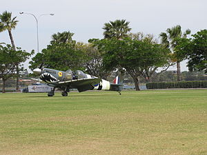 Supermarine Aircraft Spitfire Mk26B at the SAAA Langley Park Fly-in October 2011 (1).jpg