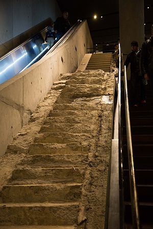 Survivors' Staircase - The Survivors' Staircase in the National September 11 Museum (2015)