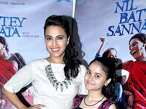 Nil Battey Sannata - Image: Swara Bhaskar and Ria Shukla promote their movie 'Nil Battey Sannata'