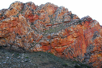 Swartberg Pass - Image: Swartberg Pass Rock Formation