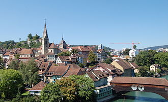 Baden, Switzerland - Image: Switzerland Baden oldcityview